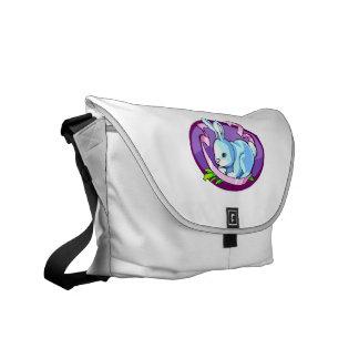 lila púrpura oval png de la cinta del conejito bolsas de mensajeria
