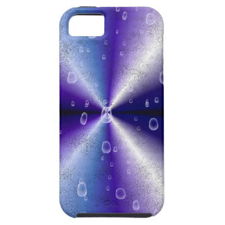 lila Regenbogen en la piel Leder Optik de Elefant iPhone 5 Fundas