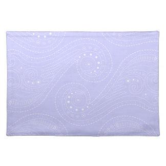 Lila remolinos púrpuras y del blanco manteles
