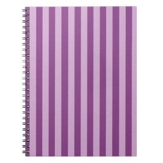 Lila Stripes Note Books