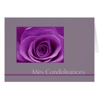 lila subió en francés gris de la tarjeta de condol