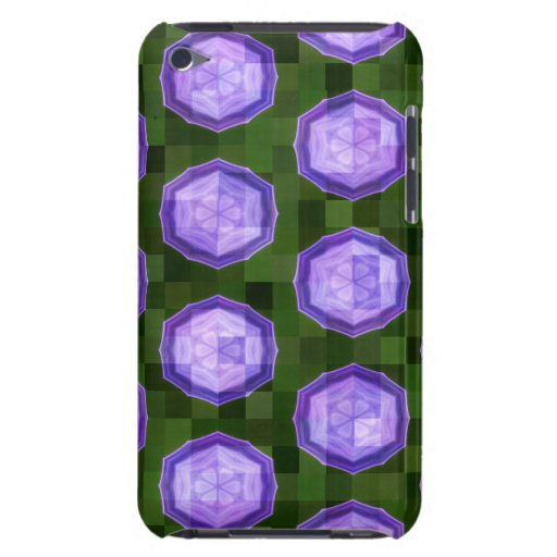 Lila y Abstact verde iPod Touch Fundas