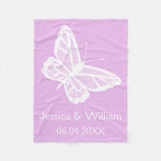 Lila y el casarse blanco de las mariposas manta polar