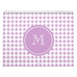 Lila y guinga blanca, su monograma calendarios