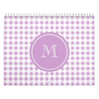 Lila y guinga blanca, su monograma calendario