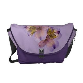 Lila y la bolsa de mensajero adaptable púrpura bolsa de mensajeria
