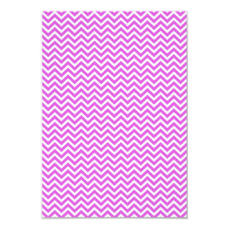"""Lila y zigzag blanco Chevron ondulado de la Invitación 3.5"""" X 5"""""""