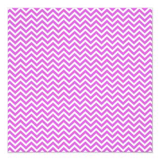 """Lila y zigzag blanco Chevron ondulado de la Invitación 5.25"""" X 5.25"""""""