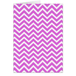 Lila y zigzag blanco Chevron ondulado de la Tarjeta De Felicitación