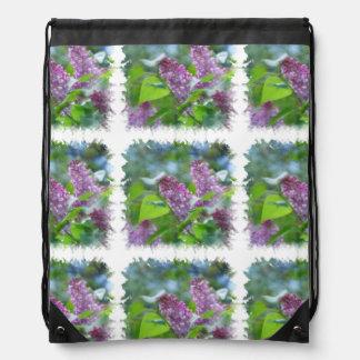 lilac-26 drawstring backpacks