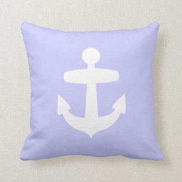Beach Themed Lilac Anchor Pillow
