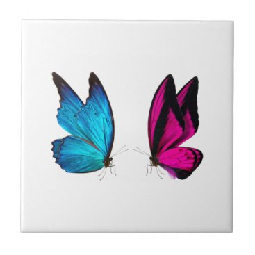 merydesigns LILAC AND BLUE BUTTERFLIES TILE