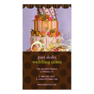 Lilac and Chocolate Bakery/pâtisserie Business Card
