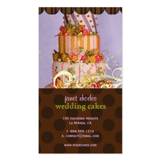 Lilac and Chocolate Bakery/pâtisserie Business Cards