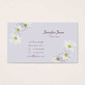 Lilac and Daisy  Floral Business Card