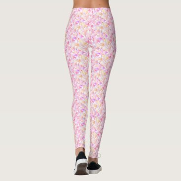 Beach Themed Lilac and gold school of fins leggings