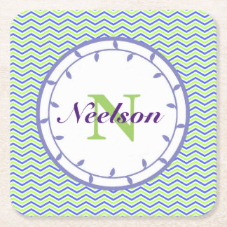 Lilac and Lime Monogram Coaster Templates