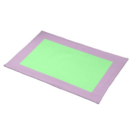 Lilac and Mint Green Placemat