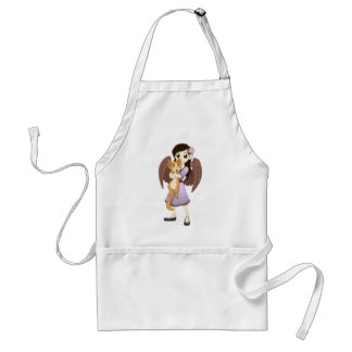 Lilac and Orange Aprons