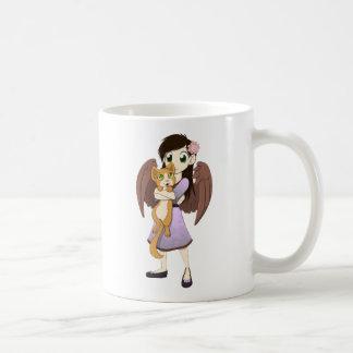 Lilac and Orange Mugs