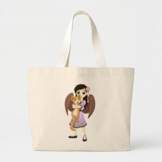 Lilac and Orange Totes Bags