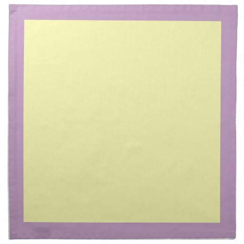 Lilac and Pale Yellow Napkins