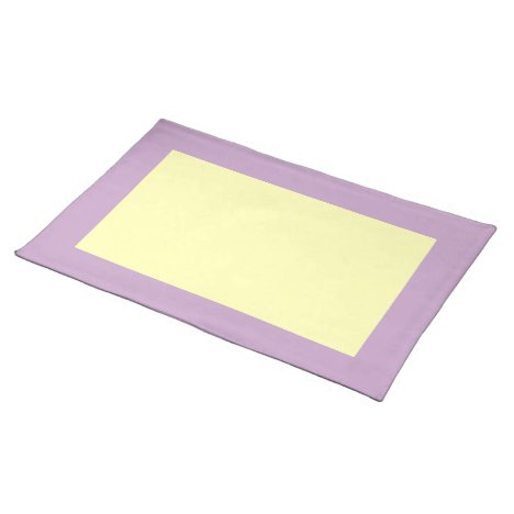 Lilac and Pale Yellow Placemat