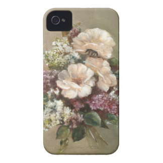 Lilac and Rose bouquet iPhone 4 Case
