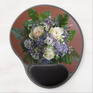 Lilac and Rose Wedding Bouquet Gel Mouse Pad