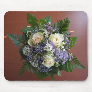 Lilac and Rose Wedding Bouquet Mouse Pad