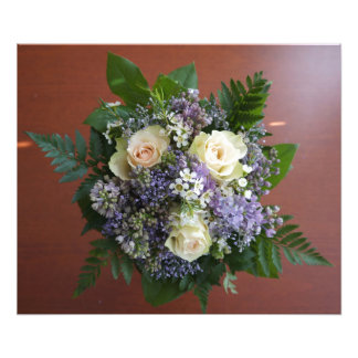 Lilac and Rose Wedding Bouquet Photograph