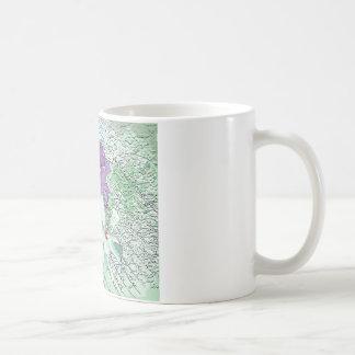 LILAC AND SAGE FLORAL MONTAGE COFFEE MUG