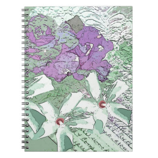 LILAC AND SAGE FLORAL MONTAGE NOTEBOOK