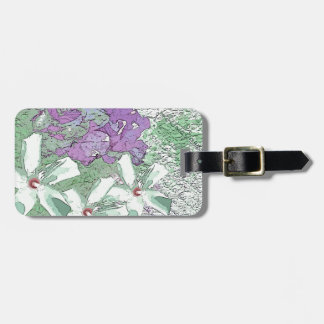 LILAC AND SAGE FLORAL MONTAGE TAG FOR LUGGAGE
