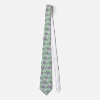 LILAC AND SAGE FLORAL MONTAGE TIE