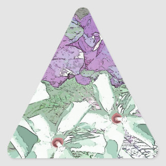 LILAC AND SAGE FLORAL MONTAGE TRIANGLE STICKER