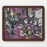 Lilac And Tulips By Corinth Lovis (Best Quality) Mouse Pad
