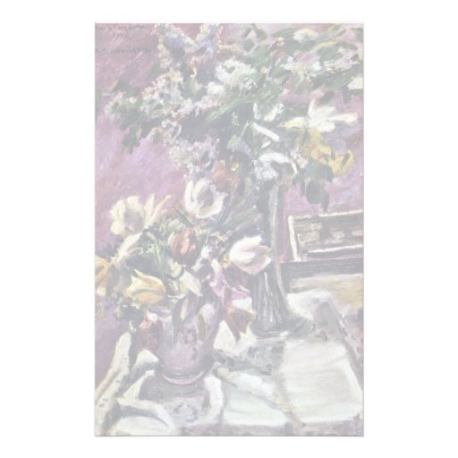 Lilac And Tulips By Corinth Lovis (Best Quality) Custom Stationery