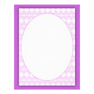 Lilac and white beautiful hearts and frame letterhead