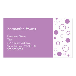 Lilac and White Bubbles Business Card