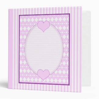 Lilac and white cute hearts binders