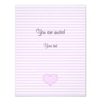 Lilac and white cute hearts card