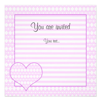 Lilac and white cute hearts personalized announcement