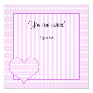 Lilac and white cute hearts custom announcements
