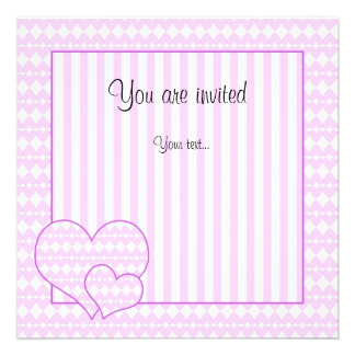 Lilac and white cute hearts announcements