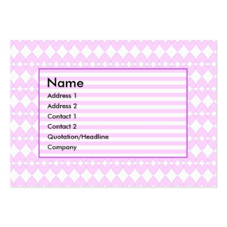 Lilac and white cute hearts large business card