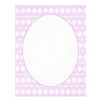 Lilac and white cute hearts letterhead