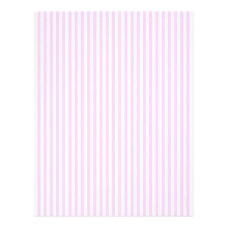 Lilac and white cute stripes letterhead