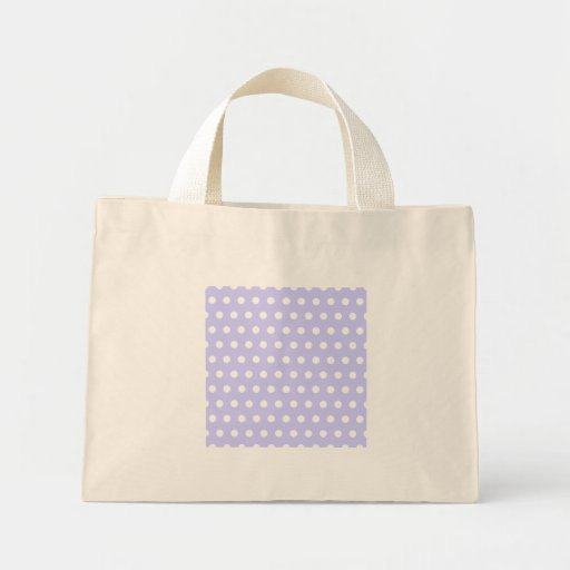 Lilac and White Polka Dot Pattern. Spotty. Bags