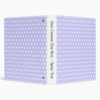 Lilac and White Polka Dot Pattern. Spotty. Binder